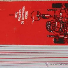 Coches y Motocicletas: CURSO MECÁNICO DE AUTOMÓVILES - 23 ENTREGAS - CEAC 1997 - 1389 PÁGINAS - VER DESCRIPCIÓN. Lote 43431324