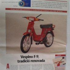 Coches y Motocicletas: PUBLICIDAD PRENSA VESPINO F9. Lote 43453926