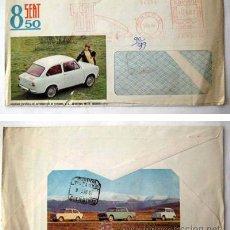 Coches y Motocicletas: SOBRE PUBLICIDAD : SEAT 850. 1966. Lote 43551406