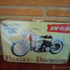 Coches y Motocicletas: CARTEL METALICO HARLEY DAVIDSON. Lote 43583394
