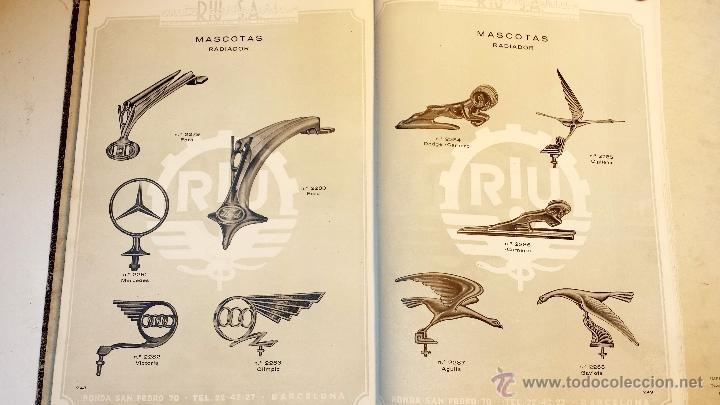 Coches y Motocicletas: GRAN CATALOGO GENERAL AUTO CARROCERIAS RIU S.A. 274 PAGINAS CON MILES DE ARTICULOS, MEDIADOS S.XX. - Foto 9 - 43620766