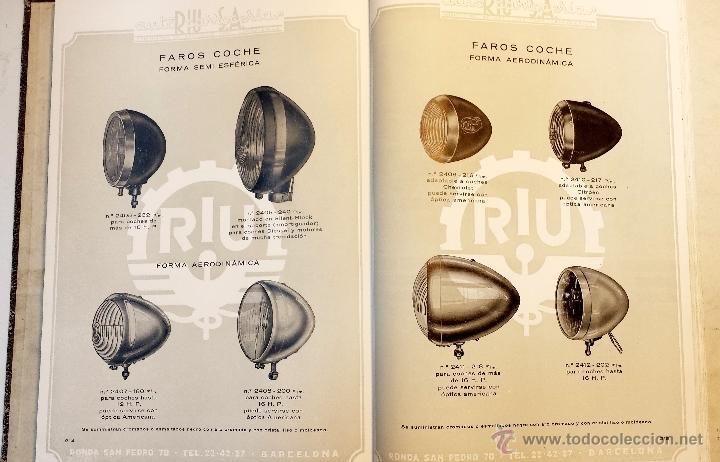 Coches y Motocicletas: GRAN CATALOGO GENERAL AUTO CARROCERIAS RIU S.A. 274 PAGINAS CON MILES DE ARTICULOS, MEDIADOS S.XX. - Foto 13 - 43620766