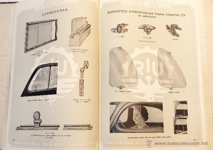 Coches y Motocicletas: GRAN CATALOGO GENERAL AUTO CARROCERIAS RIU S.A. 274 PAGINAS CON MILES DE ARTICULOS, MEDIADOS S.XX. - Foto 17 - 43620766
