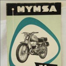 Coches y Motocicletas: ANTIGUO FOLLETO PUBLICITARIO MOTO MYMSA. 74 CC - MEDIDAS 26,5 X 22 CM. Lote 43642395