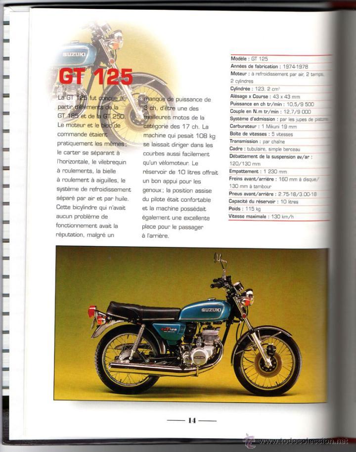 Coches y Motocicletas: LIBRO SUZUKI TOUS LES MODELES DEPUIS 1970 - Foto 3 - 117877703