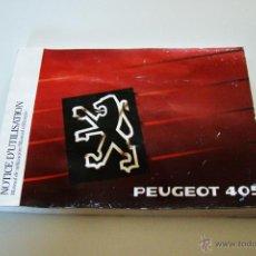Coches y Motocicletas: MANUAL USO Y MANTENIMIENTO PEUGEOT 405. Lote 43993207
