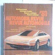 Coches y Motocicletas: REVUE AUTOMOBILE 1981 AUTOMOBIL REVUE, FRANCÉS-ALEMÁN. Lote 44026027