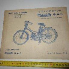 Coches y Motocicletas: MOBYLETTE AV 31 CATALOGO DESPIECE DE LA EPOCA. Lote 134448114
