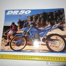 Coches y Motocicletas: SUZUKI DR 50 CATALOGO AÑOS 80. Lote 148996286