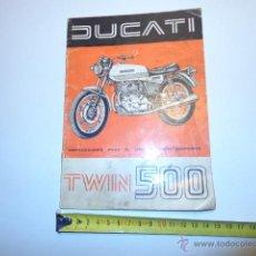 Coches y Motocicletas: MANUAL DE DUCATI TWIN 500 MANUAL PARA EL USO. Lote 44166564