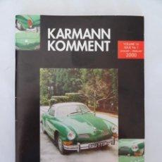 Coches y Motocicletas: KARMANN GHIA COMMENT - REVISTA CLUB KARMANN GHIA ENE-2000. Lote 54569579