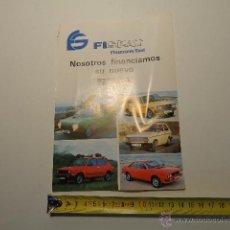 Coches y Motocicletas: CATALOGO FISEAT , SEAT 133, 127, SEAT RONDA. Lote 44224290