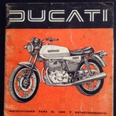 Coches y Motocicletas: MANUAL CATALOGO ORIGINAL DUCATI TWIN 500 INSTRUCCIONES PARA EL USO Y ENTRETENIMIENTO. Lote 44238324