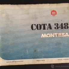 Coches y Motocicletas: CATALOGO MANUAL DE INSTRUCCIONES ORIGINAL MONTESA COTA 348. Lote 44238546