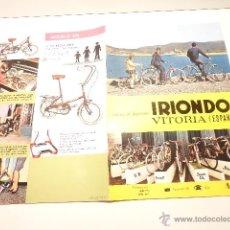 Coches y Motocicletas: TRIPTICO BICICLETAS IRIONDO VITORIA. Lote 52949695