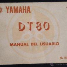Automobili e Motociclette: CATALOGO MANUAL DEL USUARIO YAMAHA DT80. Lote 44264786