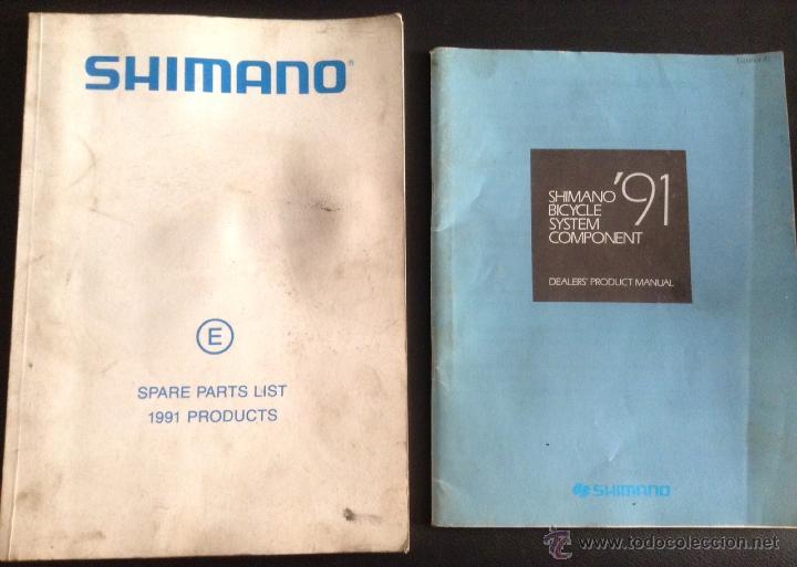 CATALOGO Y DESPIECE DE PARTES DE COMPONENTES PARA BICICLETA SHIMANO DE 1991 (Coches y Motocicletas Antiguas y Clásicas - Catálogos, Publicidad y Libros de mecánica)