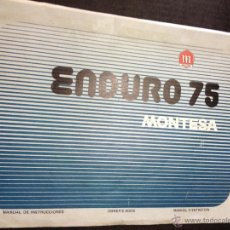 Coches y Motocicletas: ANTIGUO MANUAL DE INSTRUCCIONES Y DESPIECE DE LA MOTO ENDURO 75 - MONTESA. ORIGINAL. Lote 44420869