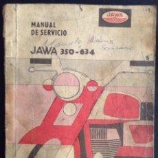 Coches y Motocicletas: MANUAL DE SERVICIO ORIGINAL JAWA 350 - 634 DE 1973. Lote 44449518