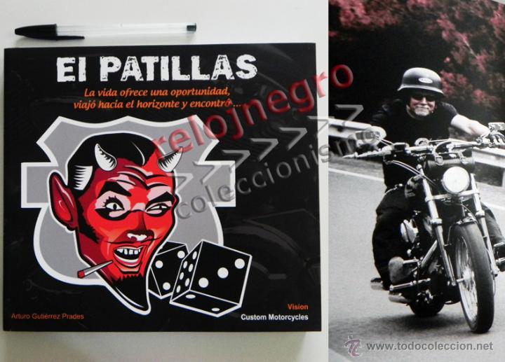 EL PATILLAS - LIBRO LLENO DE FOTOS D HARLEY DAVIDSON TATUAJES Y MOTEROS VIAJE MOTO FOTOGRAFÍA PRADES (Coches y Motocicletas Antiguas y Clásicas - Catálogos, Publicidad y Libros de mecánica)