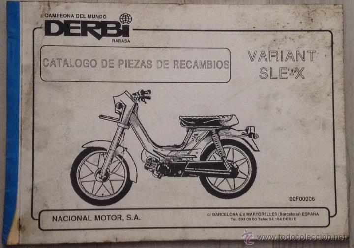 Catalogo de piezas de recambio original derbi comprar for Catalogo derbi