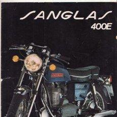 Coches y Motocicletas - CATALOGO PUBLICITARIO SANGLAS 400E (ORIGINAL) IDIOMA ESPAÑOL 3 PAGINAS. - 44737937