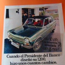 Coches y Motocicletas: PUBLICIDAD ORIGINAL- AÑO 1970 - SIMCA 1200 GLE BARREIROS DIESEL S.A.. Lote 44814684