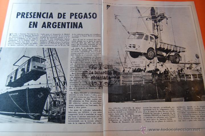 ARTICULO REVISTA AÑO 1970 - PRESENCIA PEGASO EN ARGENTINA - 2 PAG. (Coches y Motocicletas Antiguas y Clásicas - Catálogos, Publicidad y Libros de mecánica)
