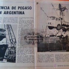 Coches y Motocicletas: ARTICULO REVISTA AÑO 1970 - PRESENCIA PEGASO EN ARGENTINA - 2 PAG.. Lote 44819679