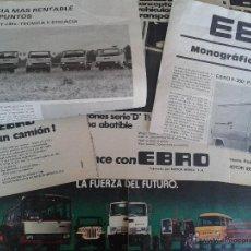 Coches y Motocicletas: ANTIGUA PUBLICIDAD ORIGINAL DE PRENSA EBRO MOTOR IBERICA. Lote 40667885