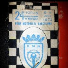 Coches y Motocicletas - BRAZALETE DE SERVICIOS DEL CIRCUITO 24 HORAS MONTJUICH 1972 - PEÑA MOTORISTA BARCELONA - MONTJUIC - 44833572