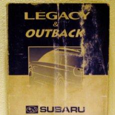 Coches y Motocicletas: MANUAL INSTRUCCIONES SUBARU LEGACY & OUTBACK 2002. Lote 44846194