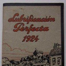 Coches y Motocicletas: LUBRIFICACION PERFECTA 1924. Lote 45052477