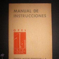Coches y Motocicletas: OPEL - 1.1 LIT. - 4 CIL - MANUAL DE INSTRUCCIONES- AÑO 1936 . Lote 45146423