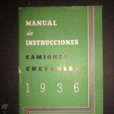 Coches y Motocicletas: CHEVROLET - CAMIONES - MANUAL DE INSTRUCCIONES - GENERAL MOTORS - AÑO 1936 . Lote 45146630