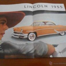 Coches y Motocicletas: LINCOLN 1955 - CATALOGO DESPLEGABLE - ORIGINAL FRANCIA. Lote 45233530