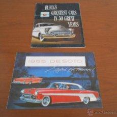 Coches y Motocicletas: CATALOGO COCHE DE SOTO 1955 Y BUICK'S 50 ANIVERSARIO - ORIGINAL USA. Lote 45233545