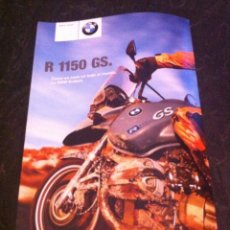Voitures et Motocyclettes: CATÁLOGO MOTO BMW R 1150 GS AÑO 2001. Lote 159098266