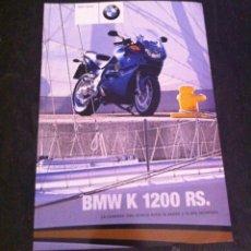 Coches y Motocicletas: CATÁLOGO MOTO BMW K 1200 RS AÑO 2001. Lote 45241393