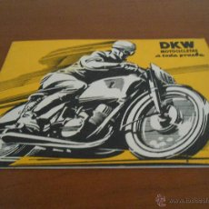 Coches y Motocicletas: CATALOGO DIPTICO MOTO MOTOCICLETA DKW - AÑOS 50 - EN CASTELLANO. Lote 45270078