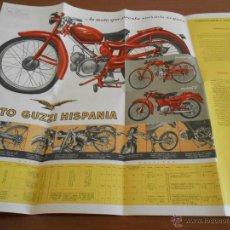 Coches y Motocicletas: CATALOGO DESPLEGABLE MOTOCICLETA MOTO GUZZI HISPANIA - AÑOS 50. Lote 45270429