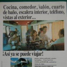 Coches y Motocicletas: PUBLICIDAD DICIEMBRE 1989 - AUTOBUSES AUTOCARES ENATCAR EMPRESA NACIONAL . Lote 45332621