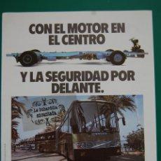 Coches y Motocicletas: PUBLICIDAD DICIEMBRE 1989 - AUTOBUSES VOLVO - TRAS. PUBLICIDAD CASTROSUA. Lote 45332645