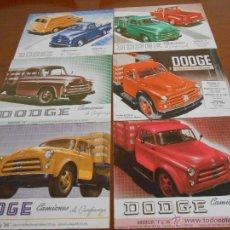 Coches y Motocicletas: CATALOGO CAMION - CAMIONES DODGE - SEIS DIFERENTES - AÑOS 50. Lote 45339748