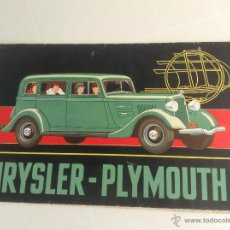 Coches y Motocicletas: CHRYSLER PLYMOUTH 6 CATALOGO ORIGINAL AÑOS 30. Lote 45348125