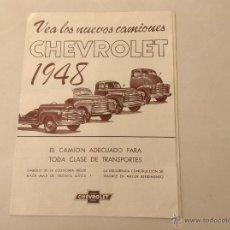 Coches y Motocicletas: CHEVROLET CAMIONES CATALOGO 1948. Lote 45348866