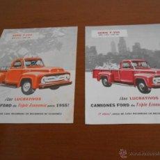 Coches y Motocicletas: FORD - DOS CATALOGOS CAMIONES F 100 Y F 350 - AÑOS 50. Lote 45379309