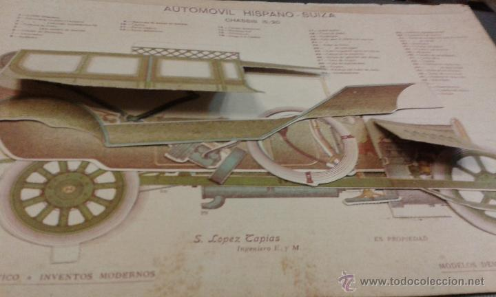 Coches y Motocicletas: Automovil hispano suiza. Chassis 15/20 S. Lopez Tapias ingeniero. Modelo demostrativo desmontable - Foto 2 - 45382790