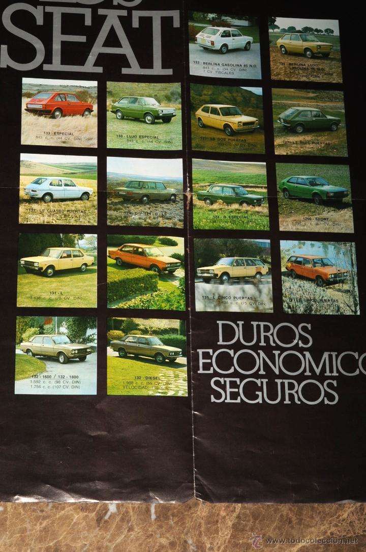 CATALOGO DESPLEGABLE LOS SEAT (Coches y Motocicletas Antiguas y Clásicas - Catálogos, Publicidad y Libros de mecánica)