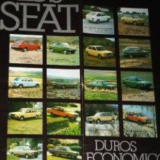 Coches y Motocicletas: CATALOGO DESPLEGABLE LOS SEAT. Lote 45390143